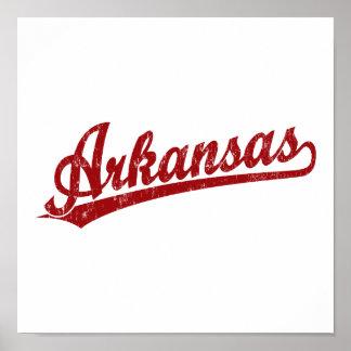 Logotipo de la escritura de Arkansas en rojo Impresiones