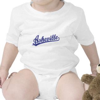 Logotipo de la escritura de Asheville en azul Trajes De Bebé