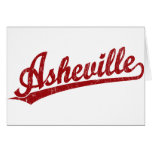 Logotipo de la escritura de Asheville en rojo Felicitación