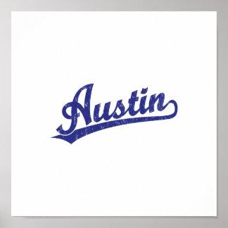 Logotipo de la escritura de Austin en azul Impresiones