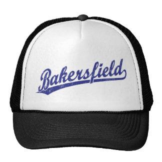 Logotipo de la escritura de Bakersfield en azul Gorros