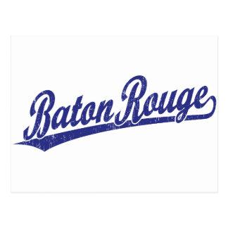 Logotipo de la escritura de Baton Rouge en azul Postal