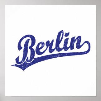 Logotipo de la escritura de Berlín en azul Impresiones