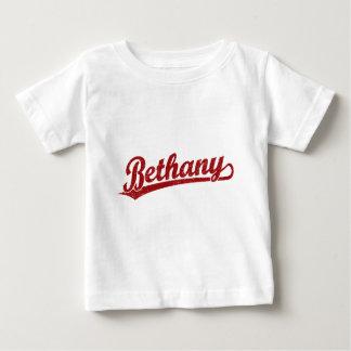 Logotipo de la escritura de Bethany en rojo Poleras