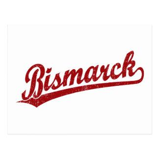 Logotipo de la escritura de Bismarck en rojo Tarjetas Postales