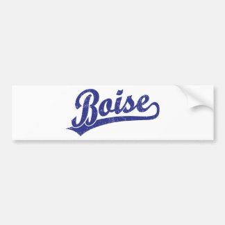 Logotipo de la escritura de Boise en azul Pegatina Para Auto