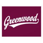 Logotipo de la escritura de Bosque verde en blanco Flyer Personalizado