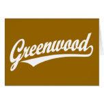 Logotipo de la escritura de Bosque verde en blanco Tarjetas