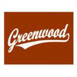 Logotipo de la escritura de Bosque verde en blanco Tarjeta Postal