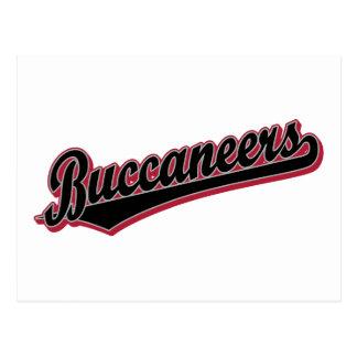 Logotipo de la escritura de Buccaneers en negro y  Tarjeta Postal