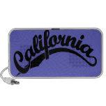 Logotipo de la escritura de California en negro iPhone Altavoz