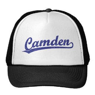 Logotipo de la escritura de Camden en azul Gorras De Camionero