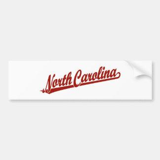 Logotipo de la escritura de Carolina del Norte en  Pegatina Para Auto