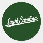 Logotipo de la escritura de Carolina del Sur en el Pegatinas