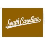 Logotipo de la escritura de Carolina del Sur en el Felicitacion