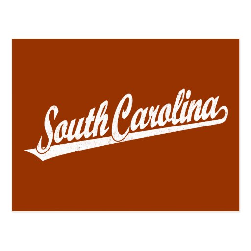 Logotipo de la escritura de Carolina del Sur en el Tarjeta Postal