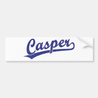 Logotipo de la escritura de Casper en azul Pegatina De Parachoque