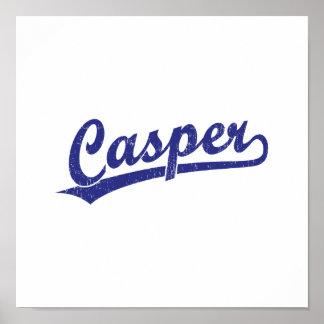 Logotipo de la escritura de Casper en azul Posters
