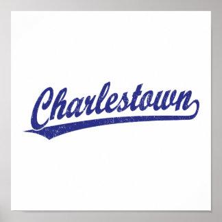 Logotipo de la escritura de Charlestown en azul Impresiones