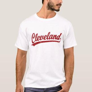 Logotipo de la escritura de Cleveland en rojo Playera