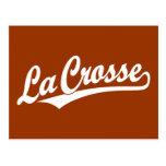Logotipo de la escritura de Crosse del La en blanc Postal