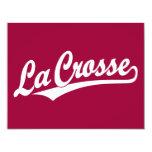 Logotipo de la escritura de Crosse del La en Invitación 10,8 X 13,9 Cm