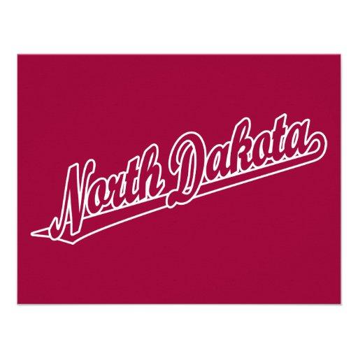 Logotipo de la escritura de Dakota del Norte en es Invitación Personalizada