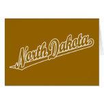 Logotipo de la escritura de Dakota del Norte en es Felicitacion