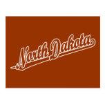 Logotipo de la escritura de Dakota del Norte en es Tarjeta Postal