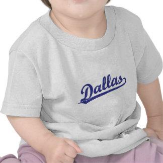 Logotipo de la escritura de Dallas en azul Camisetas
