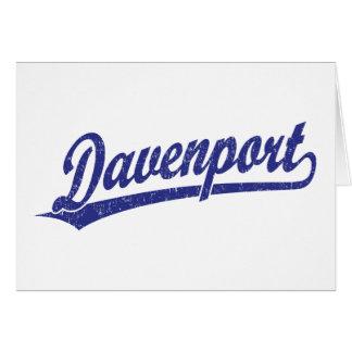 Logotipo de la escritura de Davenport en azul Felicitaciones