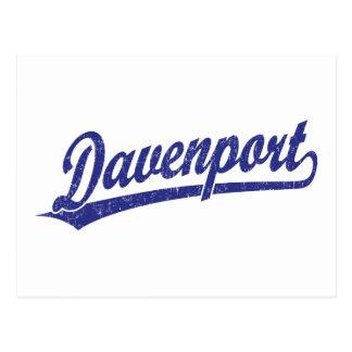 Logotipo de la escritura de Davenport en azul Postal