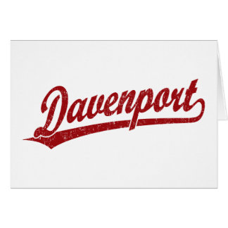 Logotipo de la escritura de Davenport en rojo Tarjetas