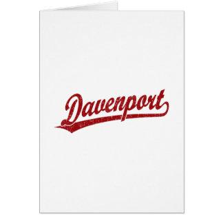 Logotipo de la escritura de Davenport en rojo Felicitación