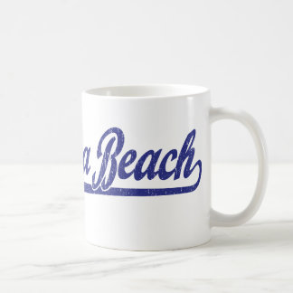 Logotipo de la escritura de Daytona Beach en azul Tazas De Café
