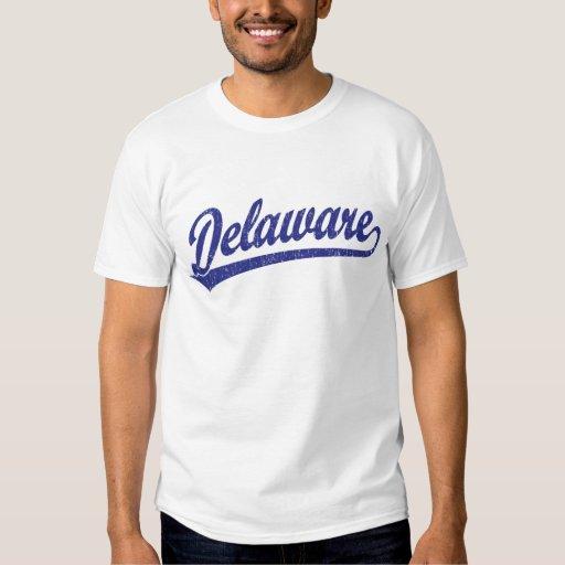 Logotipo de la escritura de Delaware en azul Playera