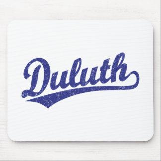 Logotipo de la escritura de Duluth en azul Alfombrilla De Ratón