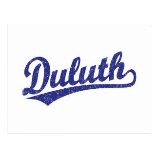 Logotipo de la escritura de Duluth en azul Tarjeta Postal