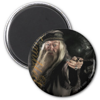 Logotipo de la escritura de Dumbledore Imán Redondo 5 Cm