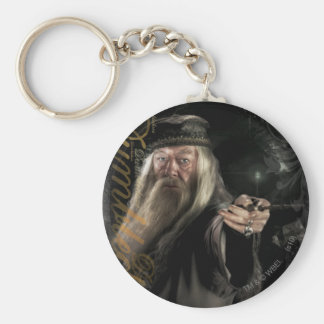 Logotipo de la escritura de Dumbledore Llavero Redondo Tipo Pin