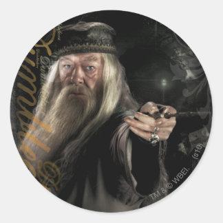 Logotipo de la escritura de Dumbledore Pegatina Redonda