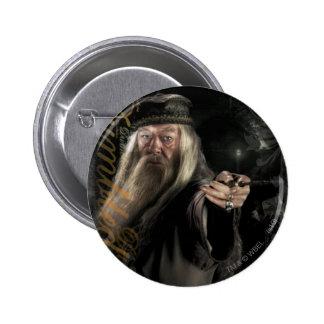 Logotipo de la escritura de Dumbledore Pin Redondo De 2 Pulgadas
