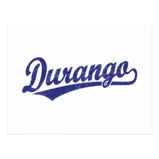 Logotipo de la escritura de Durango en azul Postales