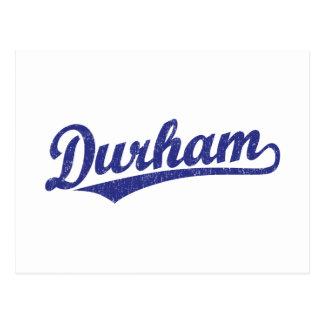 Logotipo de la escritura de Durham en azul Tarjeta Postal