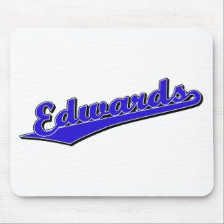 Logotipo de la escritura de Edwards en azul Mouse Pad