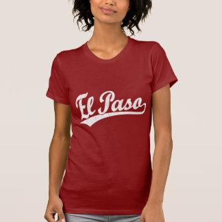 Logotipo de la escritura de El Paso en blanco Playera