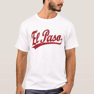 Logotipo de la escritura de El Paso en rojo Playera