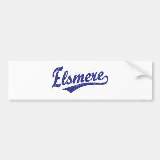 Logotipo de la escritura de Elsmere en azul Pegatina Para Auto