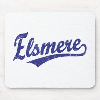 Logotipo de la escritura de Elsmere en azul Tapetes De Ratón