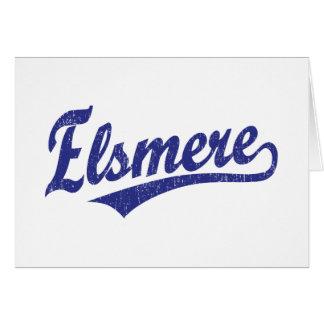 Logotipo de la escritura de Elsmere en azul Tarjeta De Felicitación